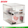 2 tall drawer transparent acrylic beautiful cosmetic organizer display