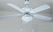 "52"" 5 ABS blades white Ceiling Fan with light"
