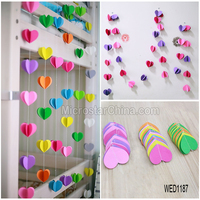 New Strings Circle Party Baby Shower Hanging paper garland