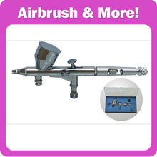 180 Dual Action Airbrush Kit Nozzle Dia:0.2-0.3 mm Cup:9CC CE, GS, UL certificated!