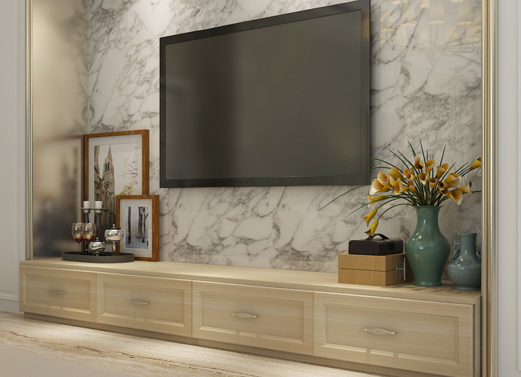 indonesia project living room wooden cabinets design tv