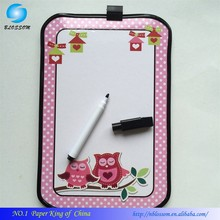 2017 Beautiful Promotional gifts cheap price sliding white board dry eraser writing magnetic kids white board