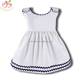 Corduroy Kids Dress with Ric Rac