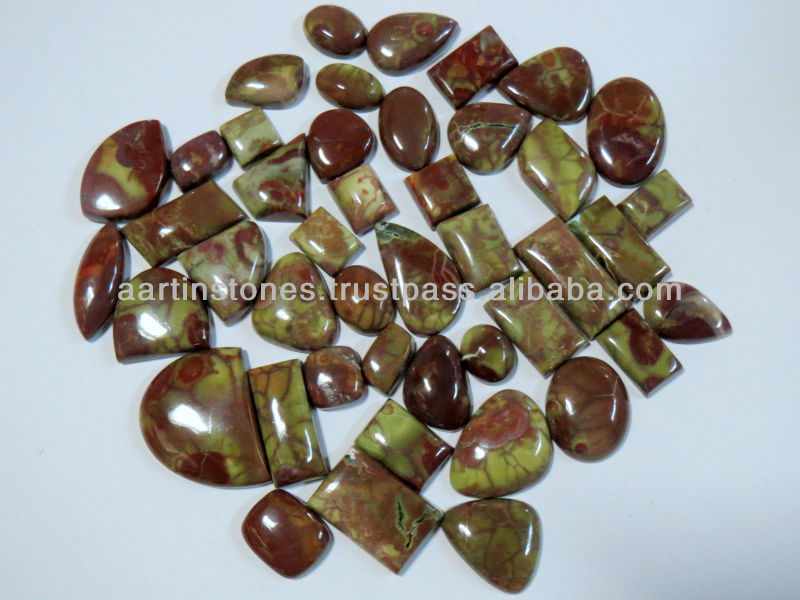 Dragon Blood jasper Gemstone Cabochons