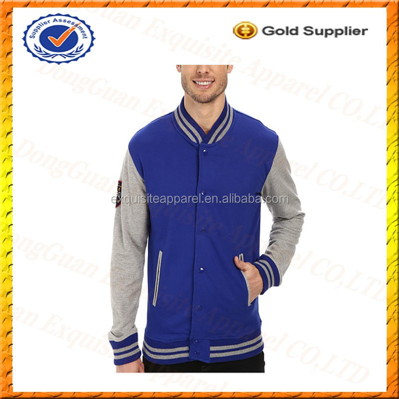 Custom Made Baseball Jacket 100 Cotton French Terry Knitted Jacket Custom Made Varsity Jacket Wholesale