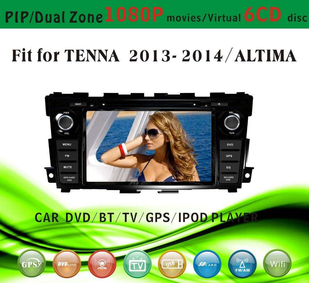 gps car fit for Tenna Altima 2013 2014 with radio bluetooth gps tv pip dual zone