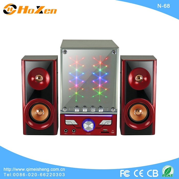 2.1CH multimedia speaker with touch screen,usb,sd,fm radio