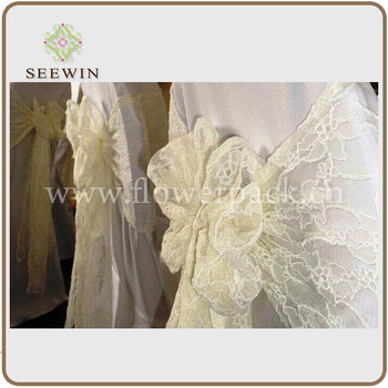 white lace sash / chair sash