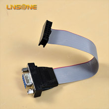 Linsone 2.54mm pitch idc connector 50 pin idc headers 15cm idc cable