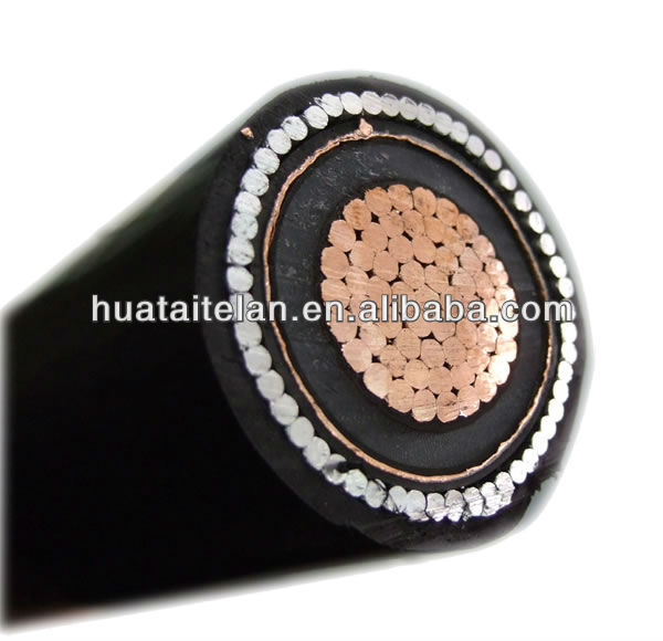 high voltage copper wire screen cable