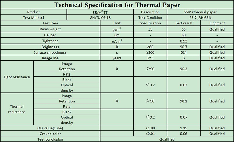 thermal paper rolls 57mm width