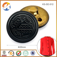 New fashion black brass sewing buttons