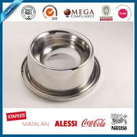 Travelling easy taking painting stainless steel 304/201 pet bowl