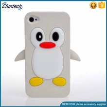 Bulk wholsale phone accessory funny penguin silicone cell phone case for iphone 6s