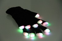 LED gloves for party favor