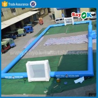 inflatable football field 2016 Hot outdoor inflatable sport games pitch for adults sale