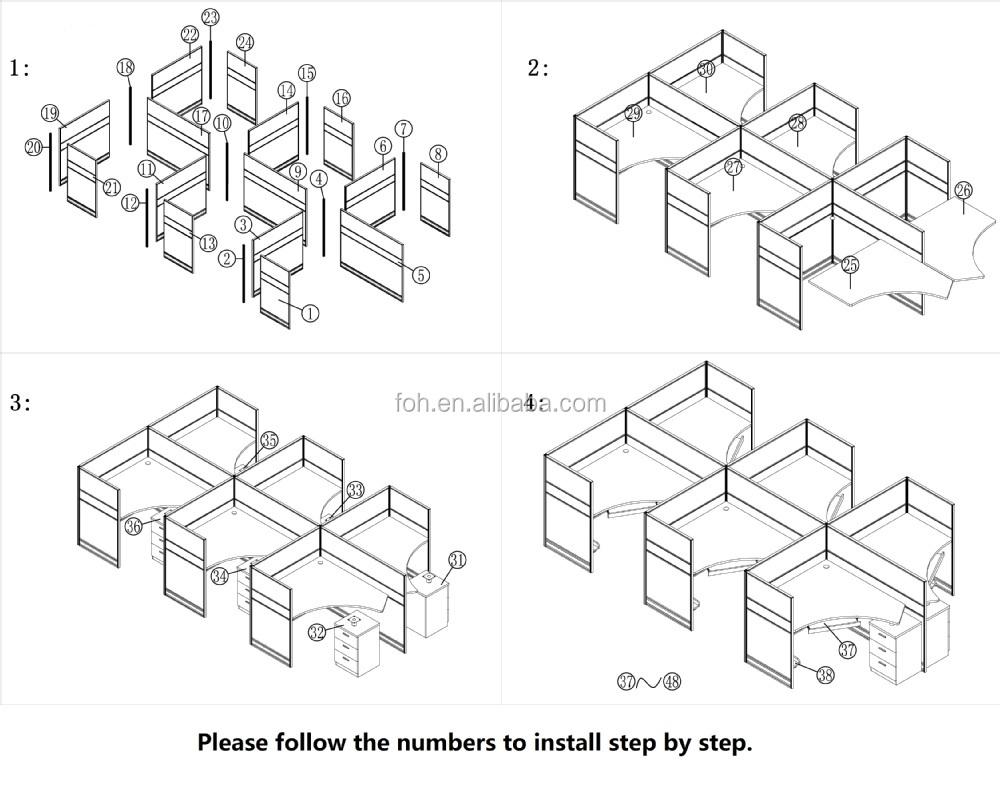 philippines office workstation cad floor plan  foh