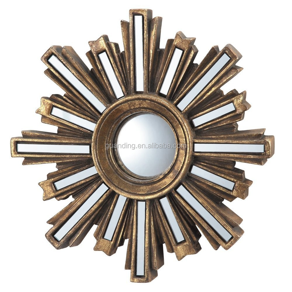 Gold Deco Sunburst Convex Wall Mirror , home/bathroom r art wall venetian mirror