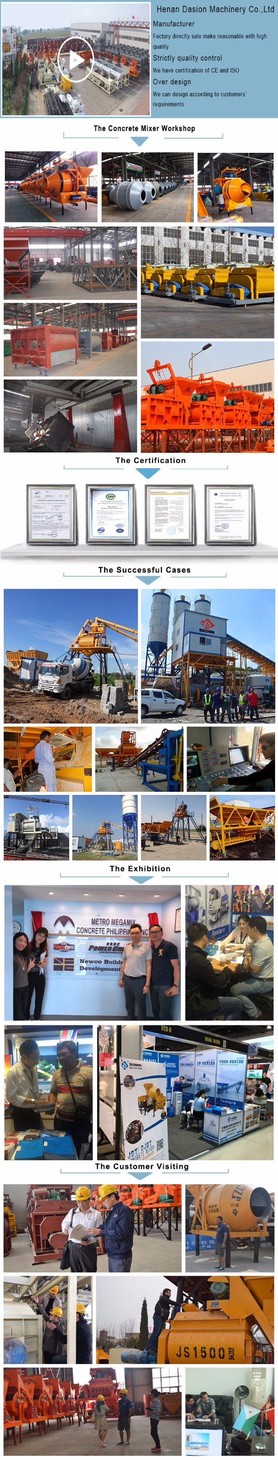 JZC concrete mixer factory