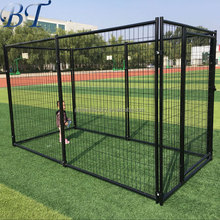 Black Powder Coated 6'H x 5'W Welded Wire Dog Run Kennel Panel with Gate Panels
