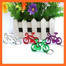 Supply 2015 Promotion Imprint Logo Mini Aluminum Alloy Metal Bicycle Keyring/Key Holder, bicycle shape bottle opener