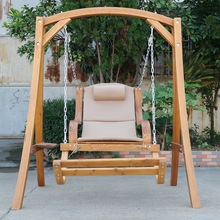 outdoor single wood leisure garden swing,Hanging Chair