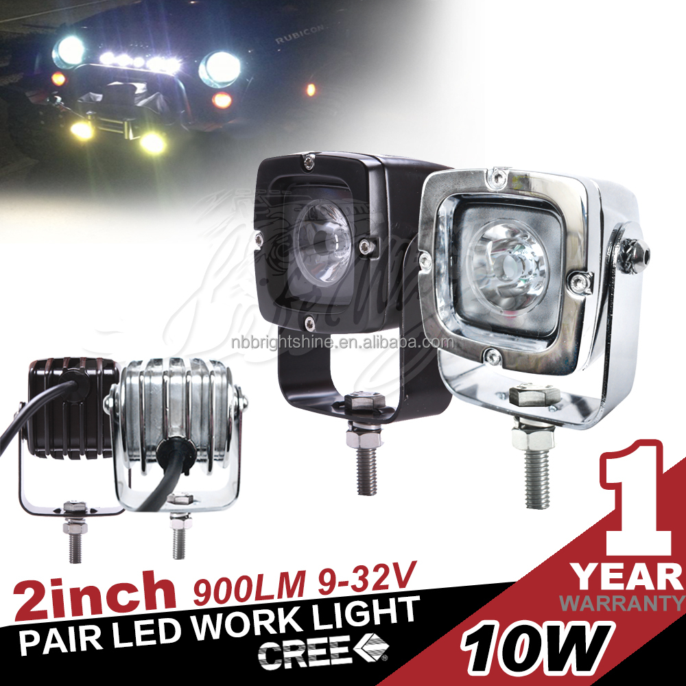 10W Black Silver Spot Flood Led Work Light Off Road for all cars