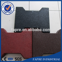 Recycled Rubbe Pavers/Interlocking Rubber Floor Paver Mat