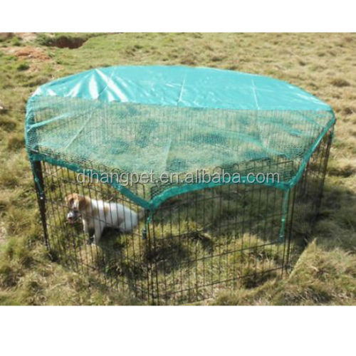 8 Panels Portable Puppy Exercise Fence play pen with cover net