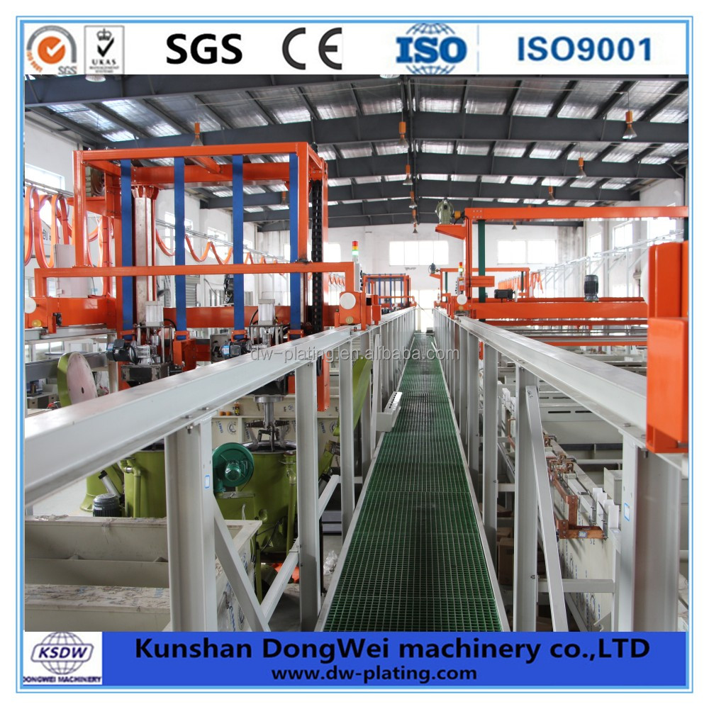 Automatic electroplating line for copper plating