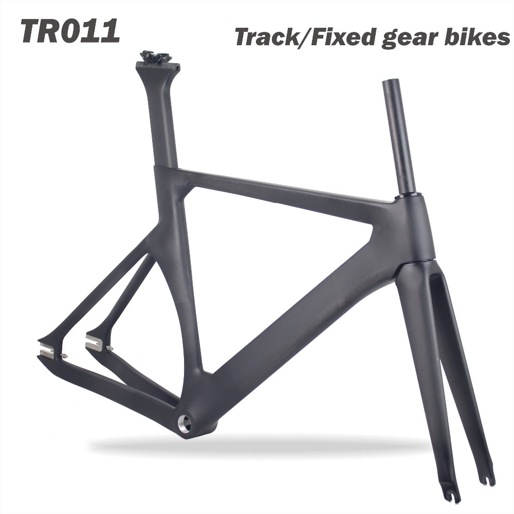 HOT SALE! MIRACLE 700C track bicycle frame BSA/BB30 carbon fiber track bike frame