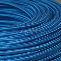 Round braided wire cord cable 2*0.75/3*0.75 bleu roi/royal blue