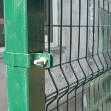 RAL 6005 Green Color Powder Coated Curved Metal Wire Fence