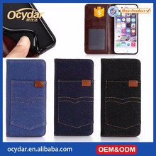 Hot Selling Cowboy Pocket Leather Case for iPhone 7, Mobile Phone case with Card Slots