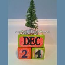 Hot new best selling product eco friendly quality craft Perpetual Wooden Calendar Blocks home decor alibaba made in China