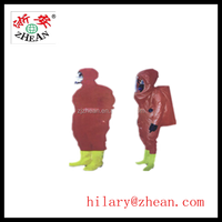 red chemical protective clothing