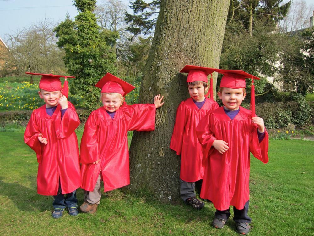 Deluxe Matte Preschool Graduation Cap And Gown Set School Uniform ...