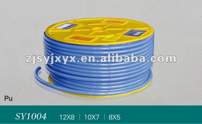 Highly flexible plastic tubing Polyurethane Plastic tubing -blue