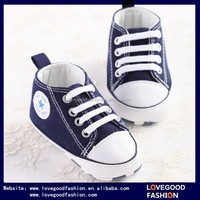 Baby Boy Girl Canvas Sneaker Crib Shoes