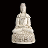 Kuan Yin Statue Sitting On Lotus