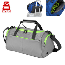 Breathable fashion youth dance travel bag with trolley go through strap, waterproof sports gym duffle bag with shoes compartment