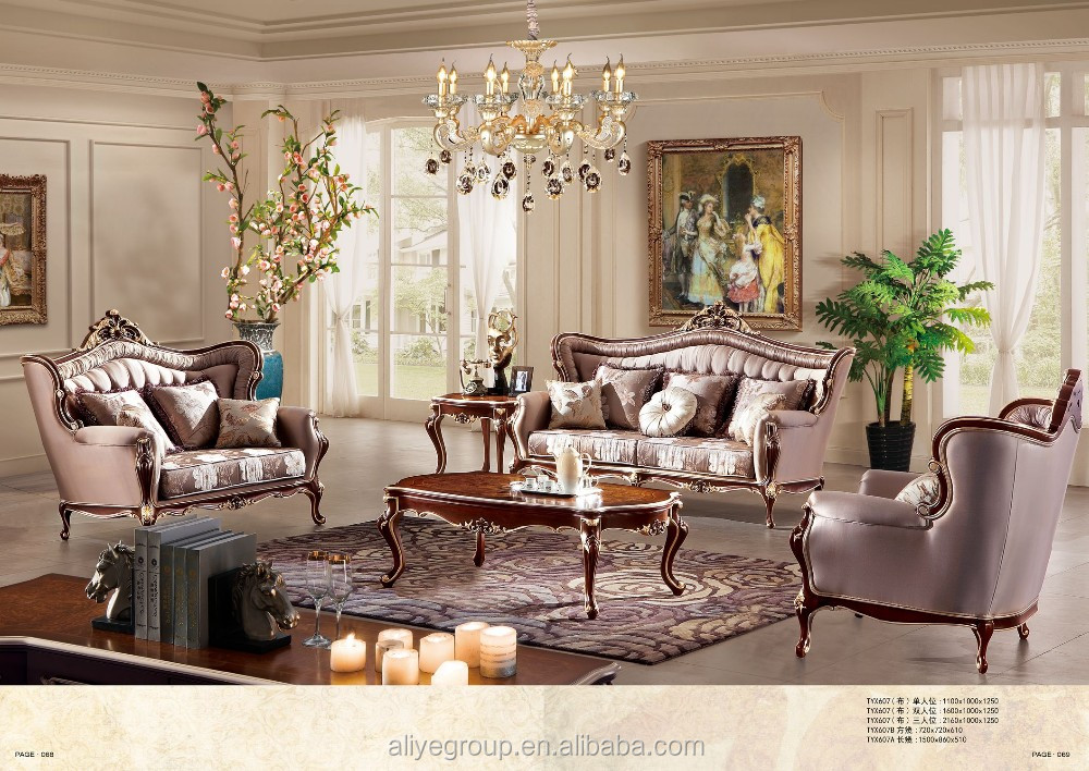Tyx607 2016 new design living room luxury hand carved sofa for Latest living room designs 2016