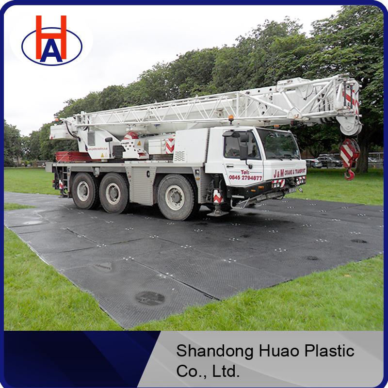 road mats plastic heavy equipment mat with any size / Huao anti-skid hdpe plastic floor mat with customized size