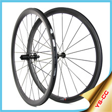 Hot-selling!! Affordable bike carbon wheels lightweight 38mm depth clincher tubuless bike rims wheels16-32H
