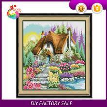 new hand printing crafts DIY cross stitch kit may lodge
