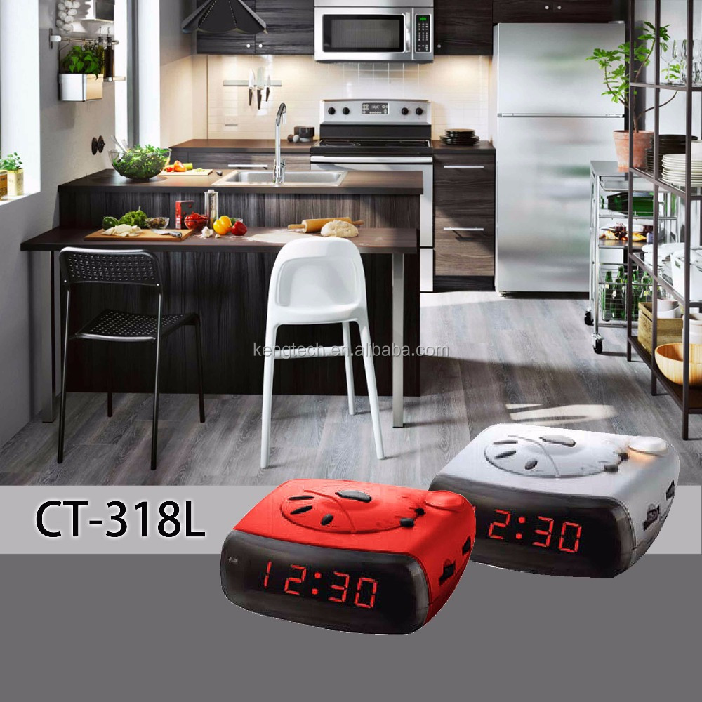 Newest 2017 PLL Alarm Clock Radio with Night Light manufacturer CT-318