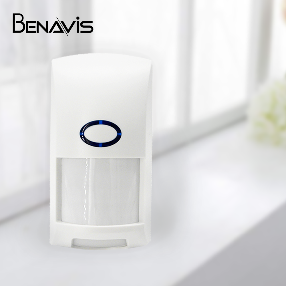 Battery Operated 433mhz Wireless Infrared Security Sensors Movement Alarm Pir Human Long Distance Detector Motion Sensor