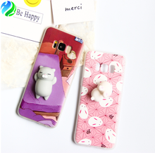Wholesale squishy animal soft tpu cell phone case cover for Samsung galaxy s8 case