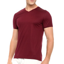 High Quality Clothing Manufacturers Brand Name Mens Clothing Bulk V-neck men's t shirt Cotton men's t shirt