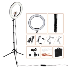 Ring Light LED Photography Camera Video Studio Lightings 3000-5600K Dimmable 18 inch 4800LM power 55w